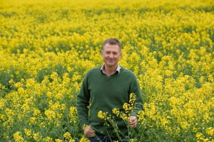 Anthony in rapeseed field 2017